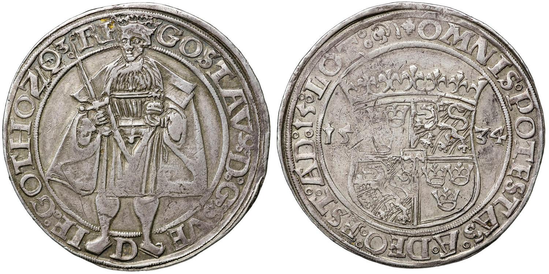 """Daler 1534. """"Kronan"""". Såld på auktion 33 för 470.000 kronor (558.125 kronor inklusive provision)"""